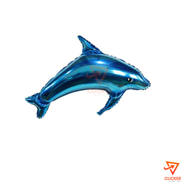 Clicker new arrives DOLPHIN FOIL BALLOON BLUE 2666