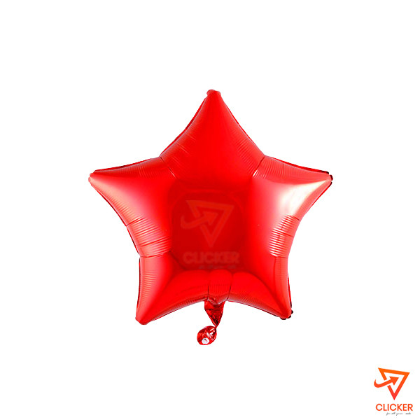 Clicker new arrives STAR SHAPE FOIL BALLOON  (18'') RED 2662